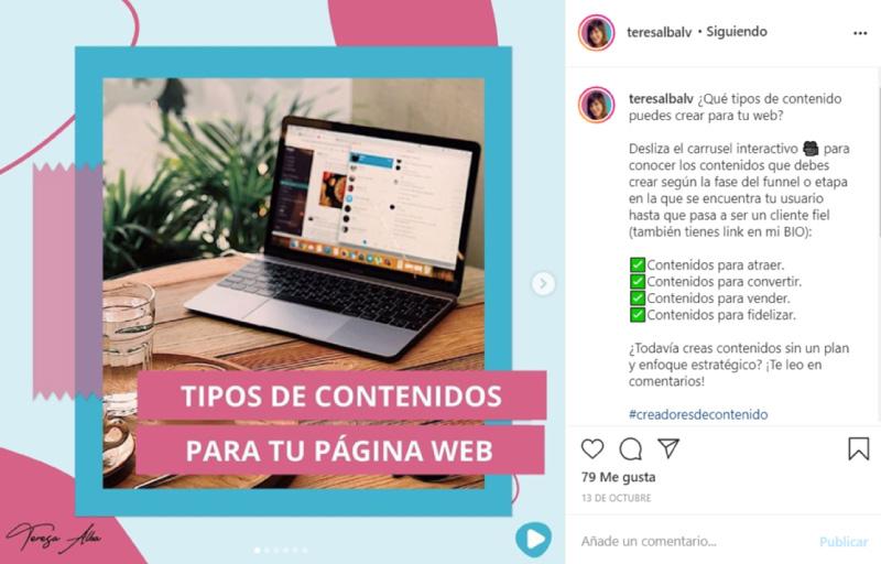 ejemplo como escribir en Instagram (2)