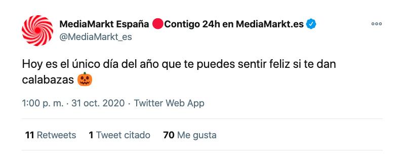 ejemplo como escribir en Twitter